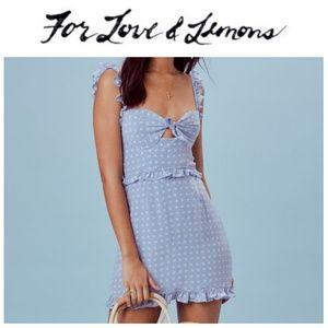 NWT For Love & Lemons Sweetheart Mini Dress